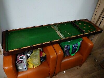 E.J. RILEY Antique Vintage Folding Table Bagatelle Board Pub Billiards Snooker • 400£