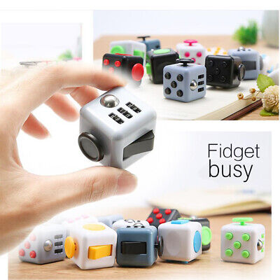 Adult Kids Anxiety Relief Figit Fidget Rubik's Cube Toys Dice Stress Cubes Gift • 4.98£