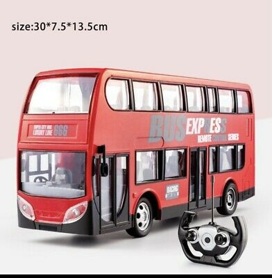 London Double Decker Remote Control Toy Bus With Lights London Transport Kids Uk • 22.99£