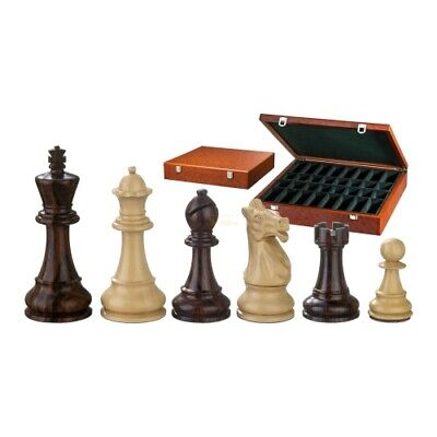 Chess Figures - Justitian - Wood - American Staunton - Kings Height 105 MM • 145.71£