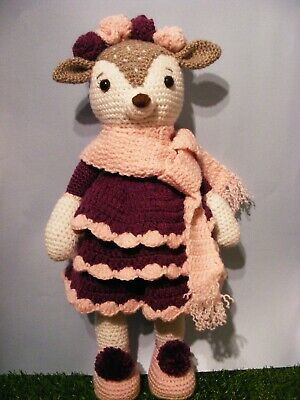 Handmade Crocheted Deer, Soft Toy • 20£