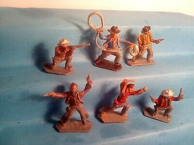 LONE STAR COWBOYS , SET OF 6 , VERY GOOD CONDITION .  C1950's/60's . T3DK8 • 9.99£
