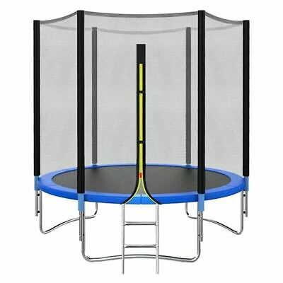 8FT 10FT Trampoline Set With Enclosure Safety Net Outdoor Indoor Kids Toy Play • 128.99£