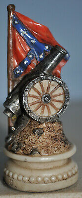 US Civil War Chess Piece - Confederacy Flag / Cannon ' Rook Piece ' Hand Painted • 7.10£