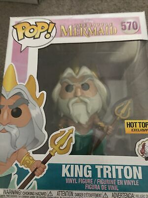 The Little Mermaid King Triton Hot Topic Excl 6  Pop! Vinyl • 10£