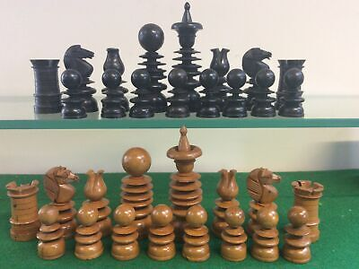 Antique Chess Set St George Style 100 Mm Kings • 31£