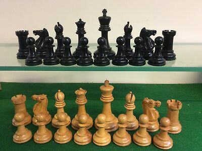 ANTIQUE CHESS SET JAQUES LONDON WEIGHTED 88mm KINGS • 53£