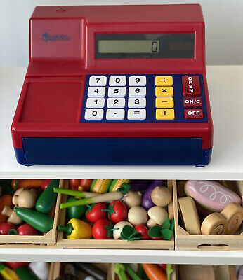Learning Resources Pretend Calculator Cash Toy Shop Register Till & Play Money • 12£