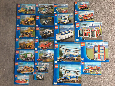 Lego City Various Bundle Job Lot Sets Of Instructions ONLY 7208 7288 4439 7942 + • 1.50£