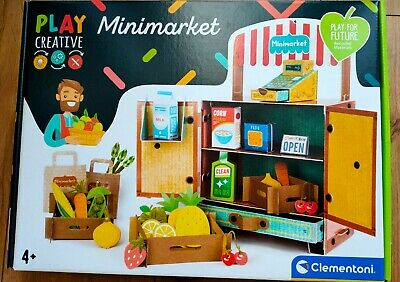 Toy Mini Market Shop Environmentally Friendly 100% Recycled Paper 4 Years+ Bnib • 12.99£