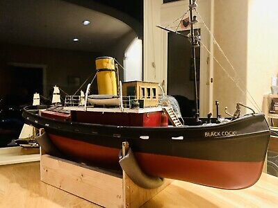 "Large Scale 40"" RC Liverpool Tug Boat 'Black Cock' • 200£"
