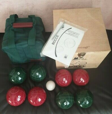 Bocce Balls Sportcraft Deluxe Unused Petanque Boules Full Size Set Italian Made. • 50£