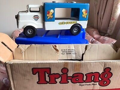 Large Vintage Triang Tin Plate Ice Cream Truck By Lines Bros Rare Original Box • 49.99£