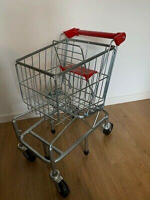 Melissa & Doug METAL SHOPPING TROLLEY/CART Toy/Gift Play Food Toddler/Child • 17.80£