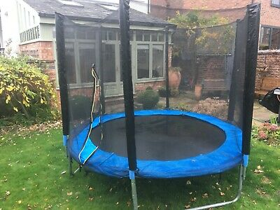 GWLTV Outdoor Trampoline 8ft / 10ft / 12ft Premium Trampoline With Safety Enclos • 27£