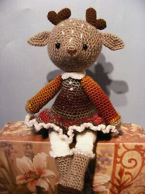 Handmade Crocheted Deer, Soft Toy • 12£