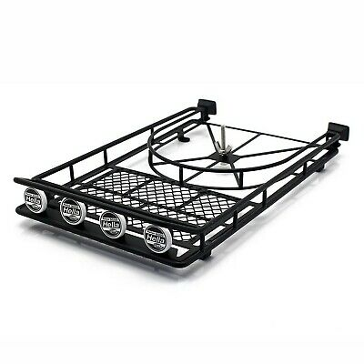 INJORA RC Roof Rack Roof Luggage With 4er LED Lights For 1:10 RC Rock Crawler... • 57.15£