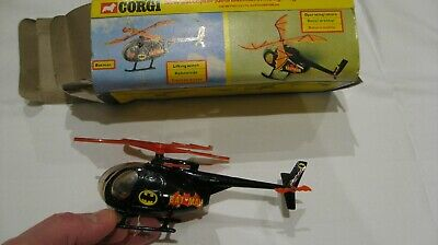 Corgi 925 Vintage Batcopter Helicopter Original Box Full Working Cond • 39£