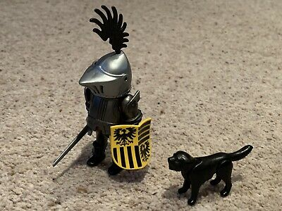Playmobil Knights The Baron And His Dog 3890. Rare, Vintage. • 6£