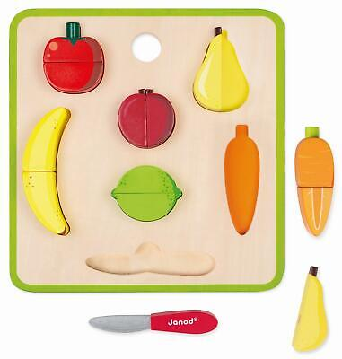 Janod GREEN MARKET CHUNKY FRUITS AND VEGETABLES SET Activity Toy BNIP • 19.99£