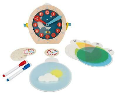 Janod LEARN TO TELL THE TIME Wooden Educational Activity Toy BNIP • 26.99£