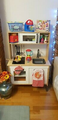 Ikea DUKTIG Kids Wooden Play Kitchen (Excellent Condition) With Many Accessories • 29.99£