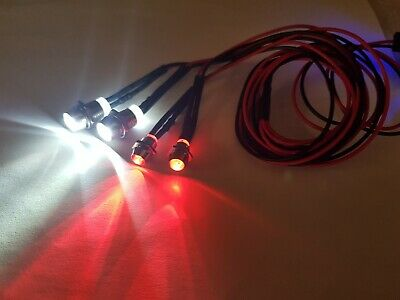 RC Car Truck Buggy Crawler Led Lights White/Red • 3.95£