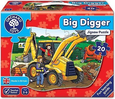 Orchard Toys BIG DIGGER JIGSAW Educational Game Puzzle BNIP • 9.99£