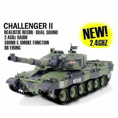 Heng Long Radio Remote Control RC Tank Challenger 2 Version 6 Forest Camo  • 189.99£
