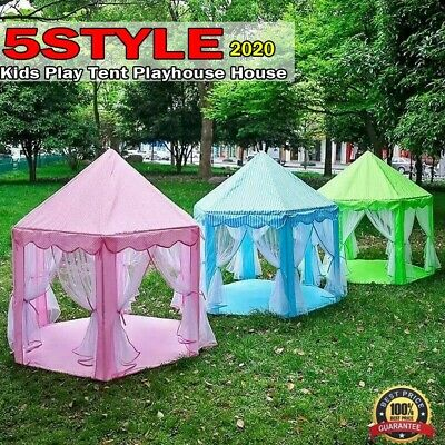 New Children Kids Play Tent Fairy Princess Girls Boys Hexagon Playhouse House UK • 18.89£