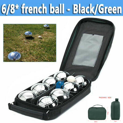 6/8 French Ball Stainless Steel Boules Set Petanque Outdoor Carry Case Garden  • 14.38£