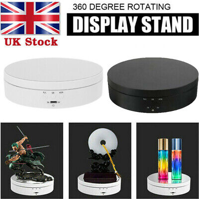 Top Battery 360° Rotating Display Stand Electric Turntable Show Holder UK Stock • 13.20£
