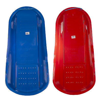 Winter Snow Outdoor Swordfish Sledge/ Toboggan Available In Red & Blue • 14.99£