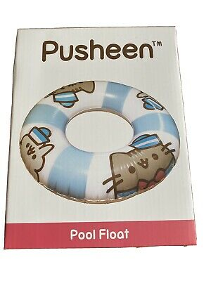 BNWT Pusheen Inflatable Pool Float Life Ring New In Box Cat Sailor • 16£