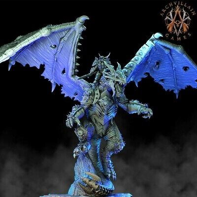 Erevos The Death Dragon, The Deathknight Order, 3D Resin Printed Warhammer Proxy • 30£