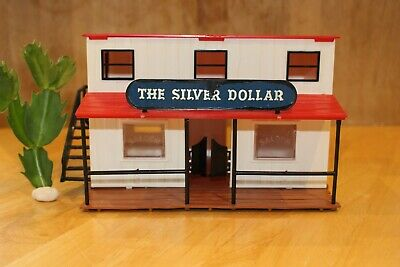 Vintage (1960s) Timpo Silver Dollar Wild West Saloon • 20£