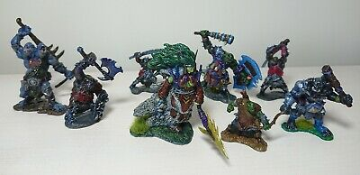Lot Of 8 Resin RPG Miniatures DnD, D&D, Pathfinder, Reaper Orcs, Half Giants • 8.99£