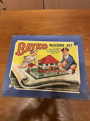 BAYKO Building Set Job Lot Of Assorted Pieces, Box And Instruction Booklet • 9.95£