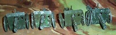 4 X Crescent Small World War One (WWI) Guns With Firing Pins All Working • 17.75£
