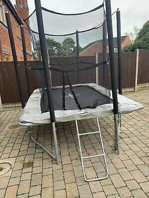 XR Series 300 Rectangular Trampoline With Safety Enclosure & Ladder 10ft X 7ft • 120£