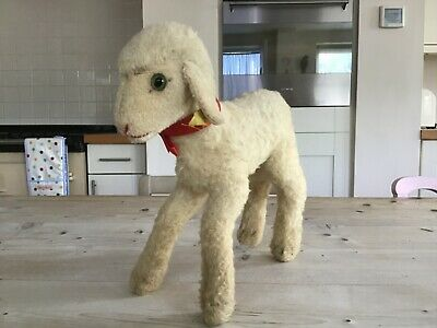 Antique Vintage Steiff 12 Inch Sheep,large Mohair Toy Lamb,button ,bears Pal • 65£