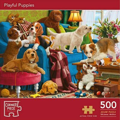 PLAYFUL PUPPIES 500 Pieces Jigsaw Puzzle SEALED  • 10.99£