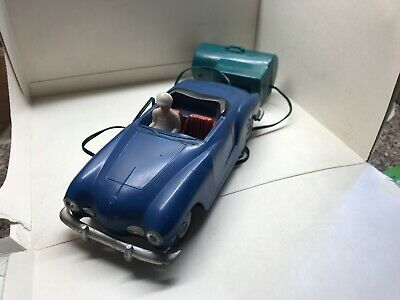 Vintage Wired Remote Controlled Battery Driven Racing Car, HSI Toys Hong Kong • 6.99£