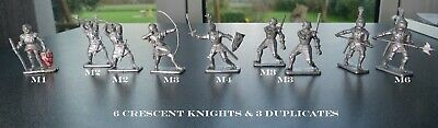 Collection Of Vintage Crescent & Kellog's Plastic Knight Figures • 11.50£