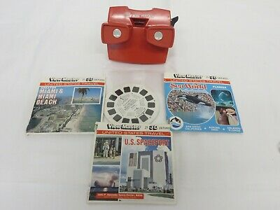 View Master 4 Sets Of Reels-U.S Spaceport, Sea World, The Everglades & Miami • 20£