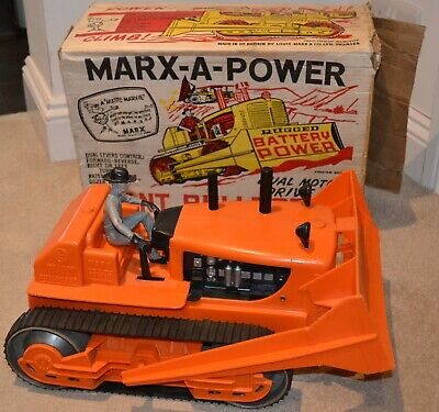 Mark-A-Power Giant Bulldozer 1960's With Box & Instructions. Fully Working. • 40£