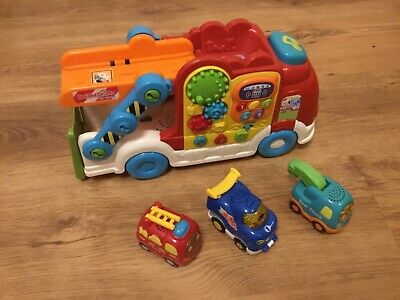 Vtech Toot Toot Car Carrier And Vehicles • 9.50£