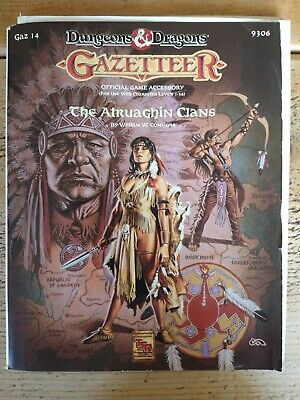 Dungeons And Dragon's Gazetteer The Atruaghin Clans GAZ14 1991 • 40£