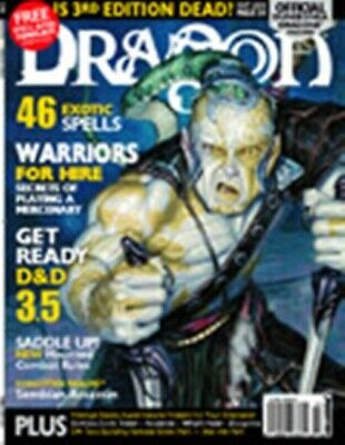 DRAGON MAGAZINE 304 Warriors For Hire Forgotten Realms Price Inc Delivery In UK • 9.99£
