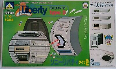 AOSHIMA Sony Liberty Stereo System Type 2 Audio Series No 5 1/6 Scale Model Kit • 34.08£